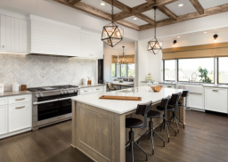Kitchen Interior Island Sink Cabinets Hardwood Cosstart