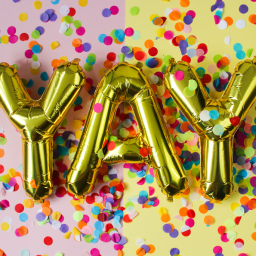 """Yay Gold Balloon Letters 16"""""""