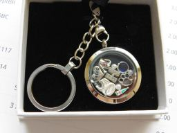 Birthday Themed Floating Locket Keyring