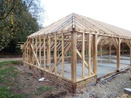 Traditional oak framed garage in Kent
