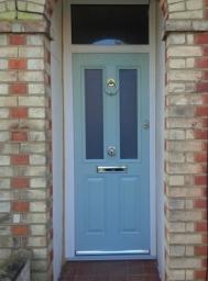 Composite Door in Duck Egg Blue