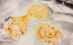 Homemade fresh pasta