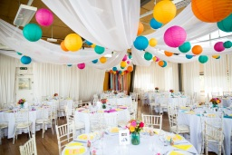The River Rooms set up for a party