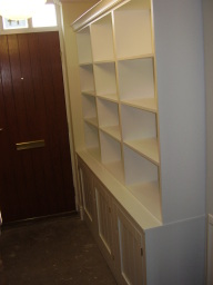 Hand made fitted shelving example