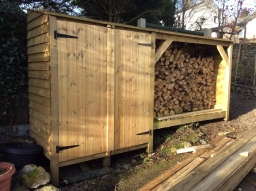 Bespoke Log Store With Doors
