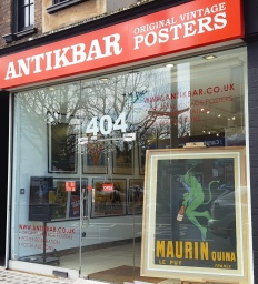 AntikBar Poster Gallery 404 King's Road London
