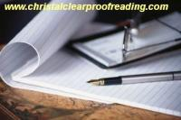 Christal Clear Proofreading: Proofreader Service, Student & University - Newport