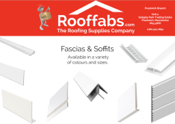 Fascias & Soffits available in various colours.