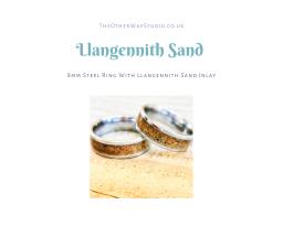 Llangennith, Gower Sand Inlaid Ring