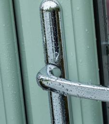 Composite Door with Silver Door Handle