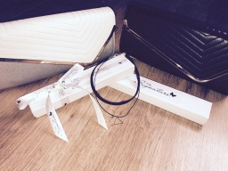 Stunning gift boxed chokers and quilted clutch bag