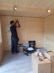 Team at work-Cabin Install