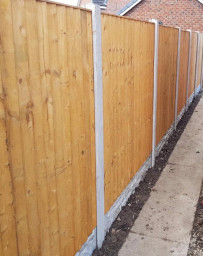 Garden fence panels fitted in Halton