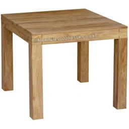 Teak Colour Sheesham Square Dining Table