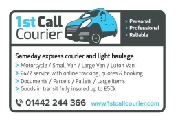 1st Call Courier Ltd sameday delivery