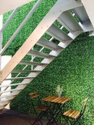 company reception hedge  decorating