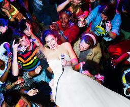 Crowd Surfing Bride