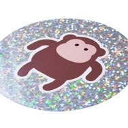 Our sparkle vinyl is great for party stickers