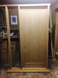 Custom made oak front door and entrance