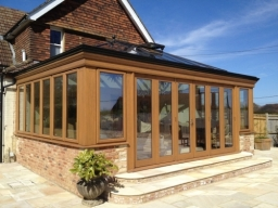 Oak Orangery with bi-fold doors in East Sussex