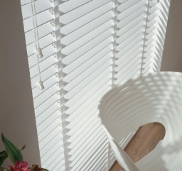 Next Day White Wooden Venetian Blinds With Tapes