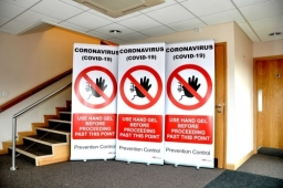 Infection Control Banners For Hospitals  Schools