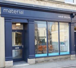 Material Hair Salon Exterior