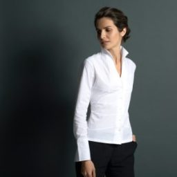 Women's fitted white shirts by Lily Gardner