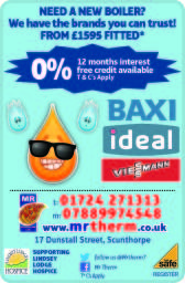 Boilers from £1,595 Viessmann, Baxi & Ideal