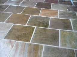 Cleaned & repointed indian stone paving