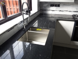 Quartz worktop. Supply and install
