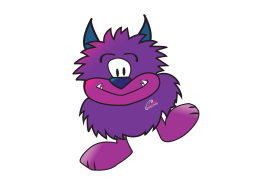 Purple Pete the Cleaning Monster