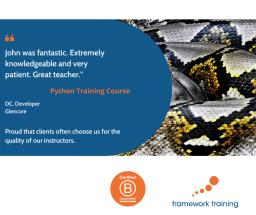 Python training testimonial