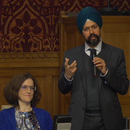 Than Dhesi MP and Theresa Villiers MP