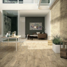 Wood Effect Porcelain Looks Great On The Floor How About Putting In On The Walls As Well