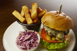 Steak Burger & triple cooked chips