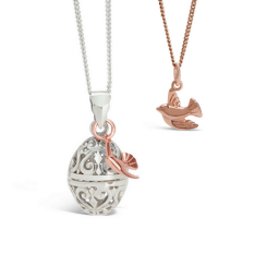 Lily Blanche Bird Lockets and pendant in rose gold
