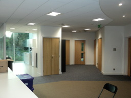 Completed office interior job