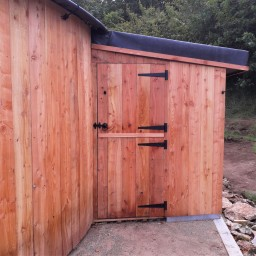 A bespoke stable door built for a roundhouse