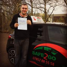 Passed with safe2go driving school
