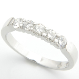 Platinum Five Diamond Eternity Ring