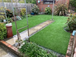 Artificial grass working with the environment