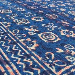 kantha quilt - blue