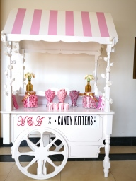 branded candy cart hire aylin sweets