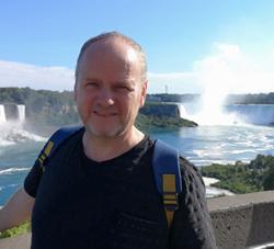 Robert at Niagra Falls