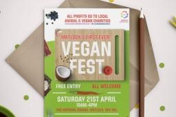 Vegan Fest 2018 Matlock Poster Flyer Design