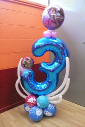 Birthday number themed Frozen