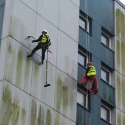 Abseil Cladding Cleaning by HCS