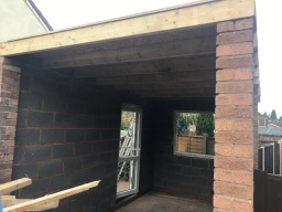 New garage roof Dordon