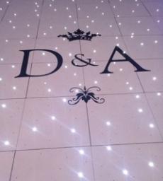 Initials on White LED dance floor